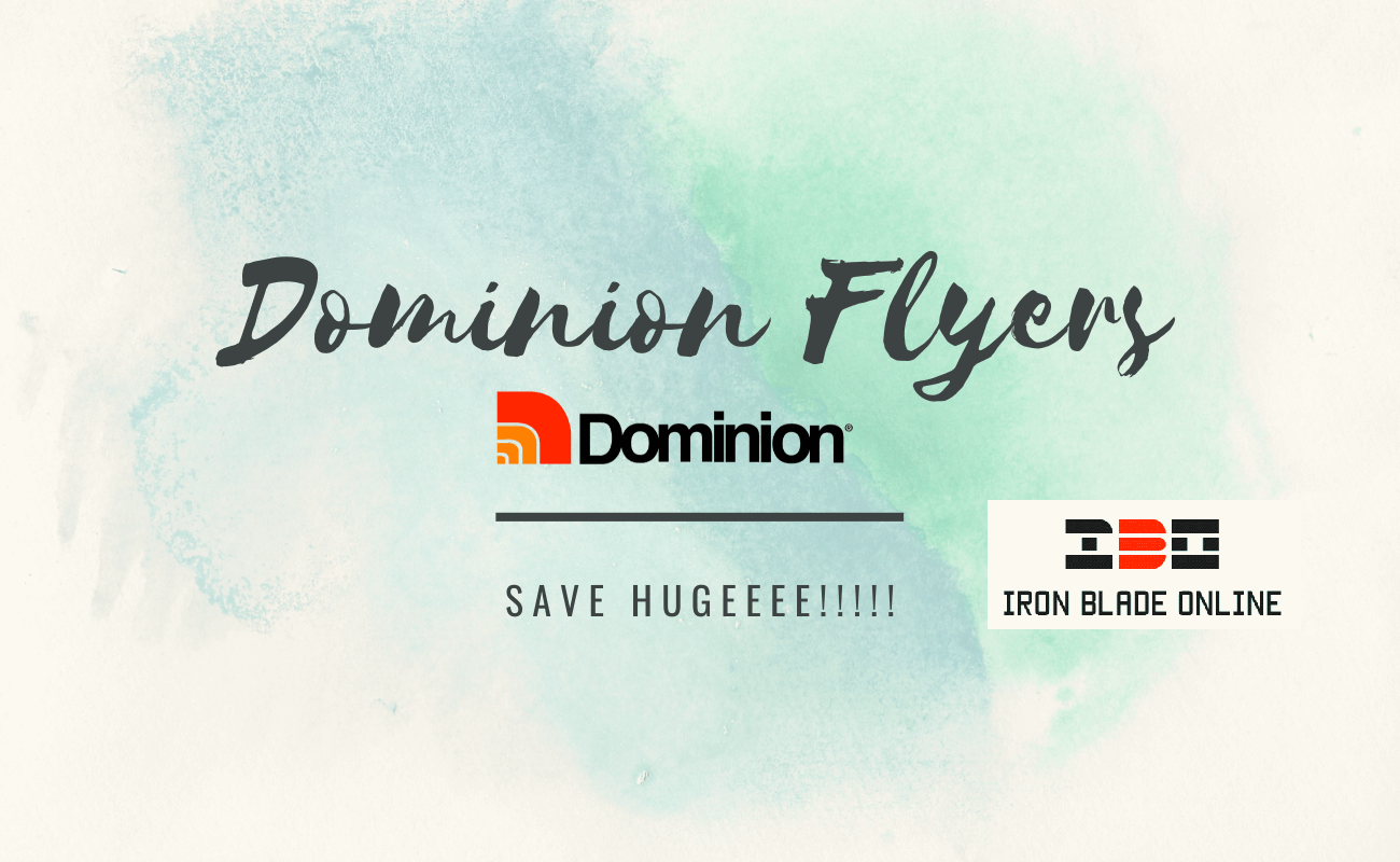 Dominion Flyers (All Canada) January 2021 Jaw Dropping Deals Live✔️