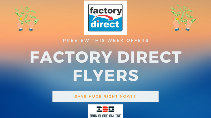 Factory Direct Flyer January 2021 Latest Deals Live✔️