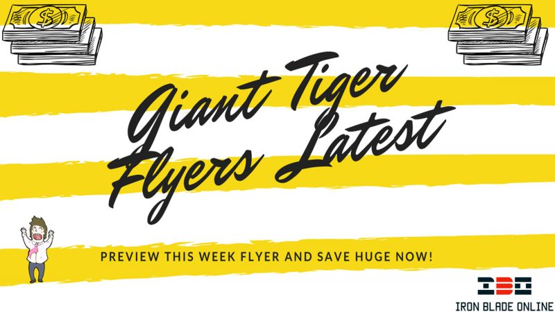 Giant Tiger Flyer (ON, Atlantic, West) January 2021 Latest Deals Live✔️